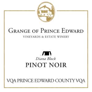 The Grange of Prince Edward Vineyards and Estate Winery Diana Block Pinot Noir