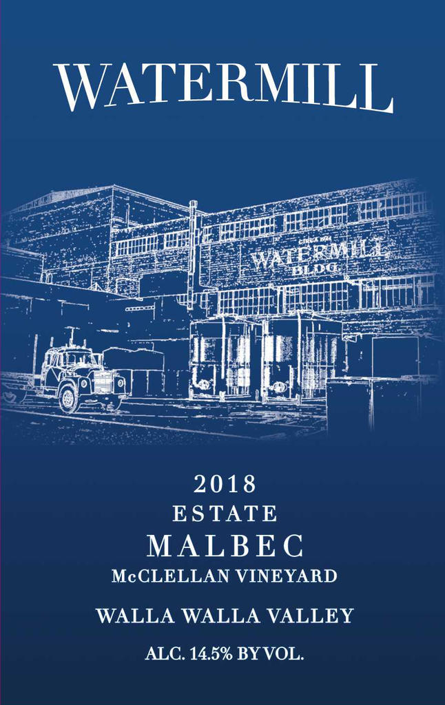 Watermill Winery Estate Malbec Bottle Preview