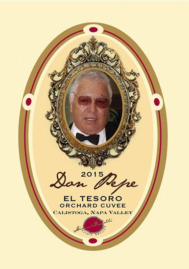 Paoletti Estates Winery Don Pepe. El Tesoro Orchard Cuvee Bottle Preview
