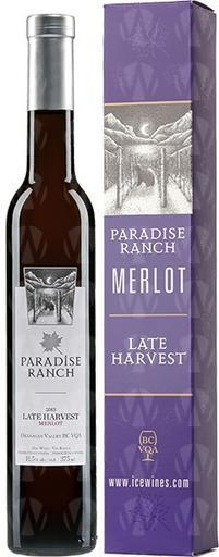 Paradise Ranch Merlot Late Harvest