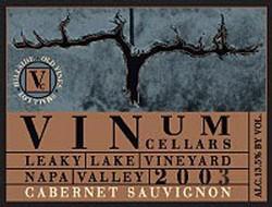 Vinum Cellars Cabernet Sauvignon, Leaky Lake Vineyard Bottle Preview