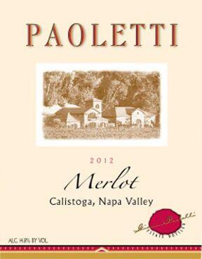 Paoletti Estates Winery Merlot Bottle Preview