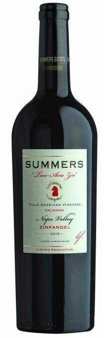 "Summers Estate Wines Calistoga ""Two-Acre"" Estate Zinfandel Bottle Preview"