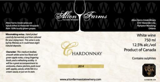 Alton Farms Estate Winery Chardonnay