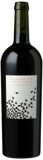 Blackbird Vineyards Illustration Napa Valley Proprietary Red Wine Bottle Preview