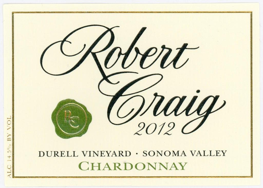 Robert Craig Winery Durell Vineyard Sonoma Valley Chardonnay Bottle Preview