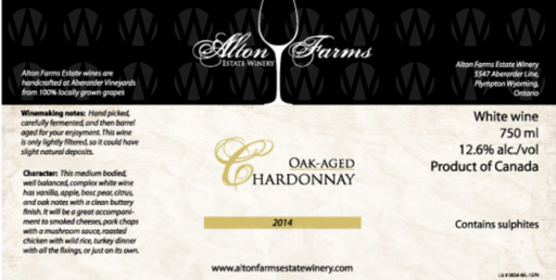 Alton Farms Estate Winery Oak-Aged Chardonnay