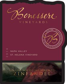 Benessere  Vineyards Collins Holystone Zinfandel Bottle Preview