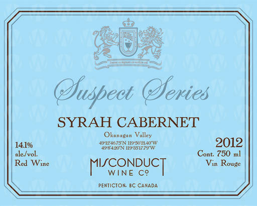 Misconduct Wine Co. Suspect Series Syrah Cabernet