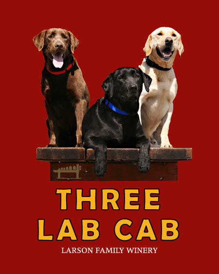 Larson Family Winery Three Lab Cab Bottle Preview