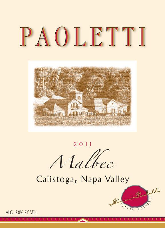 Paoletti Estates Winery Malbec Bottle Preview
