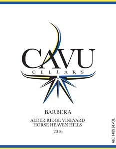 CAVU Cellars Barbera Bottle Preview
