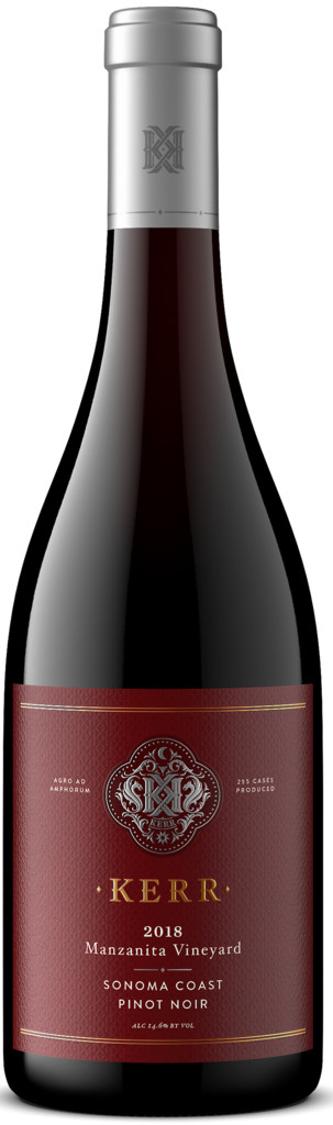 Kerr Cellars Manzanita Vineyard Pinot Noir Bottle Preview