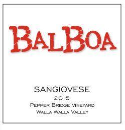 Balboa Winery Sangiovese Bottle Preview