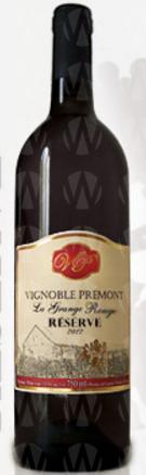 Vignoble Prémont La Grange Rouge Réserve