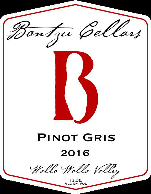 Bontzu Cellars Pinot Gris Bottle Preview