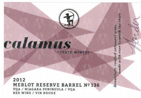 Calamus Estate Winery Reserve Merlot Barrel No. 136