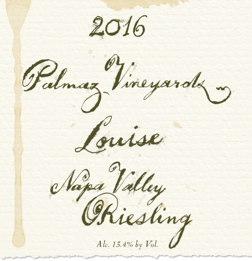 Palmaz Vineyards Louise Riesling Bottle Preview