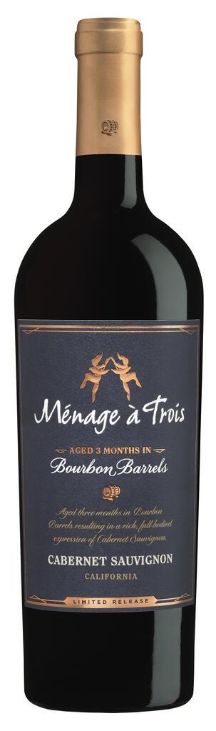 Ménage à Trois Wines Ménage à Trois Bourbon Barrel Cabernet Sauvignon Bottle Preview
