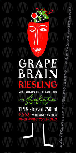Maleta Estate Winery Grape Brain Riesling