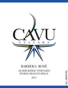 CAVU Cellars Barbera Rosé Bottle Preview