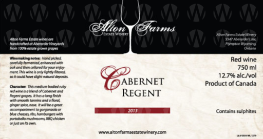 Alton Farms Estate Winery Cabernet Regent
