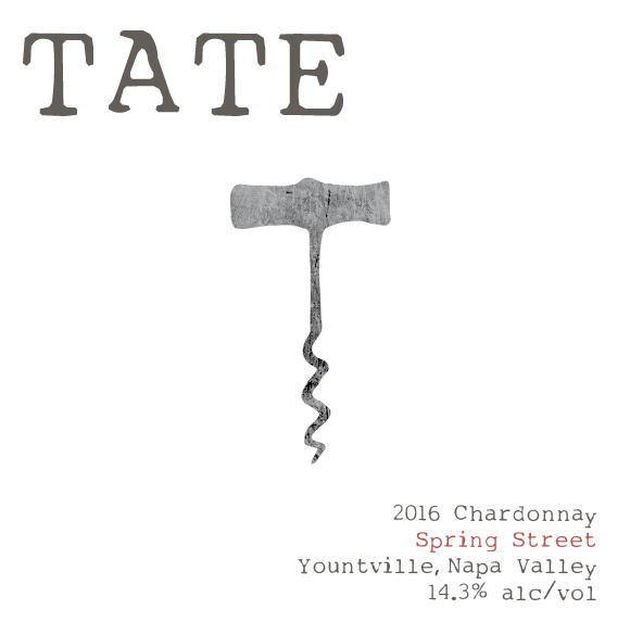 Tate Wines SPRING STREET CHARDONNAY Bottle Preview