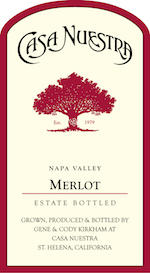 Casa Nuestra Merlot Bottle Preview