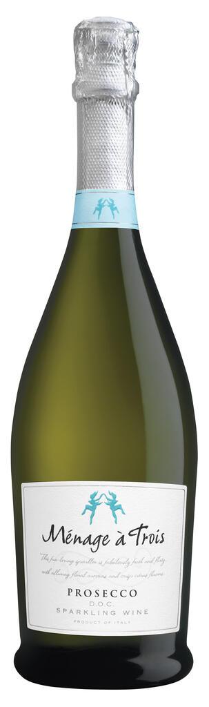Ménage à Trois Wines Ménage à Trois Prosecco D.O.C. Sparkling Wine Bottle Preview