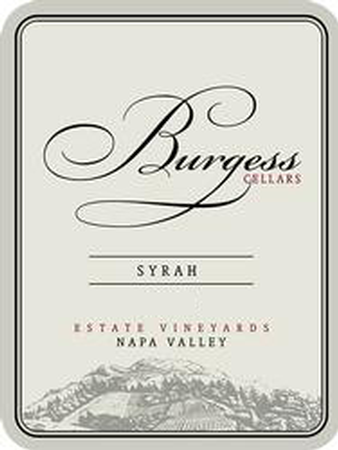 Burgess Cellars Syrah Bottle Preview