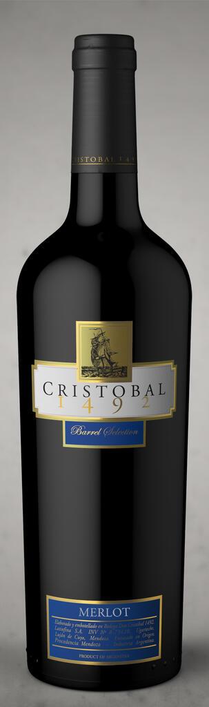 Bodega Don Cristobal Cristobal 1492 Barrel Selection Merlot Bottle Preview