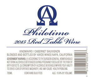 Axios Wine PHILOTIMO Bottle Preview