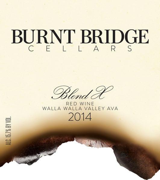Burnt Bridge Cellars Blend X Bottle Preview