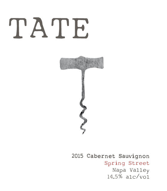 Tate Wines SPRING STREET CABERNET SAUVIGNON Bottle Preview