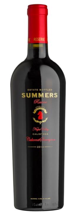 Summers Estate Wines Calistoga Napa Valley Reserve Cabernet Sauvignon Bottle Preview
