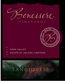 Benessere  Vineyards Sangiovese Bottle Preview