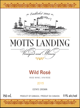 Motts Landing Estate Winery Wild Rose
