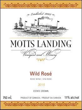 Motts Landing Estate Winery Wild Rose
