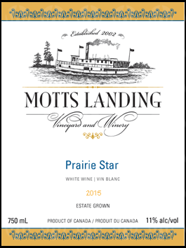 Motts Landing Estate Winery Prairie Star