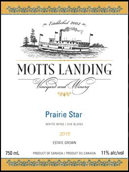 Motts Landing Estate Winery Prairie Star