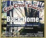Cox Creek Cellars Inc. Back Home