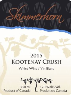 Skimmerhorn Winery & Vineyard Kootenay Crush White
