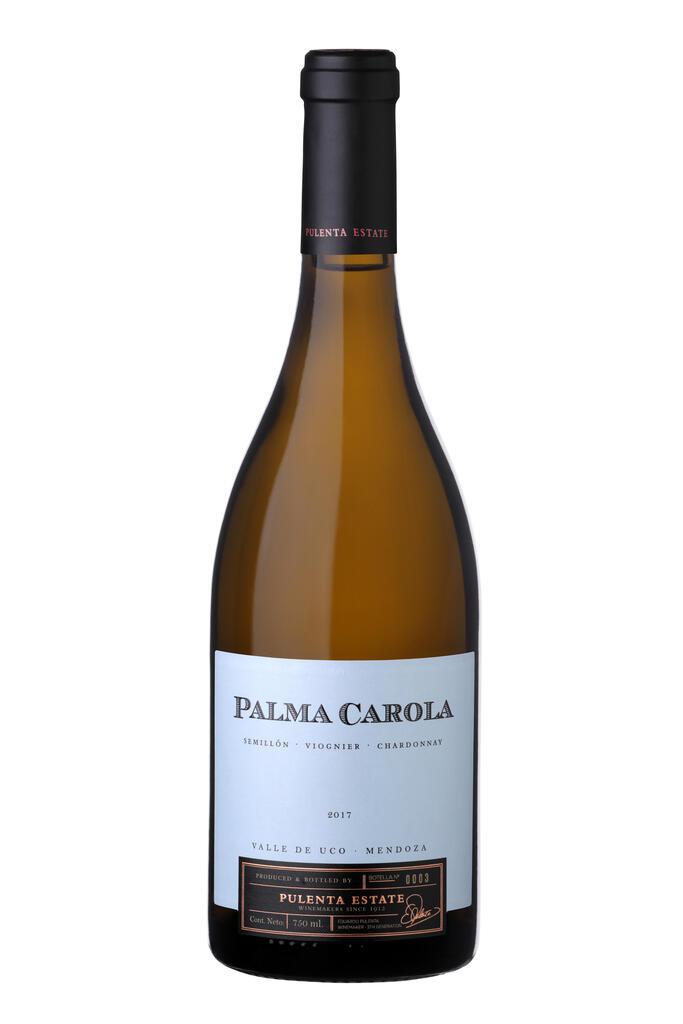 Pulenta Estate PALMA CAROLA WHITE BLEND 2017 Bottle Preview