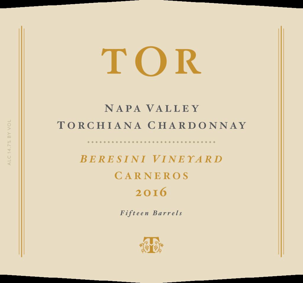 TOR Wines Beresini Vineyard, Torchiana Chardonnay Bottle Preview
