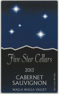 Five Star Cellars Cabernet Sauvignon Bottle Preview