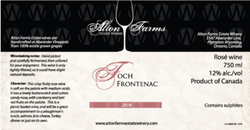 Alton Farms Estate Winery Foch Frontenac