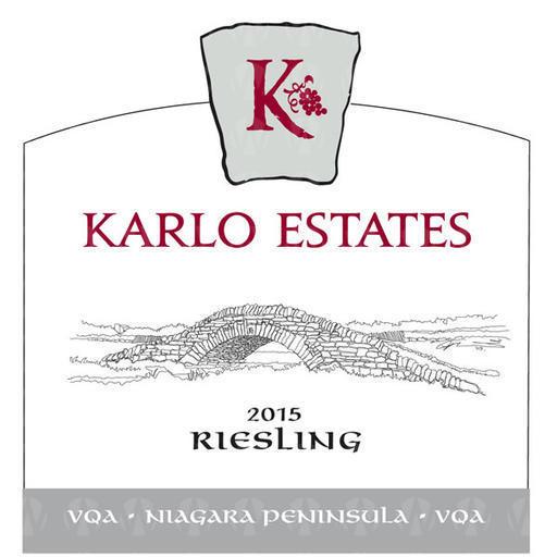 Karlo Estates Niagara Peninsula Riesling