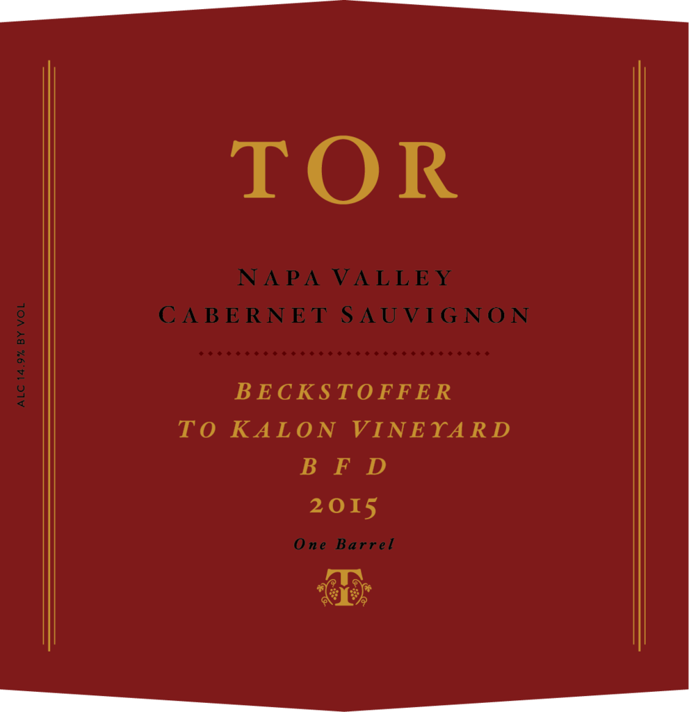 TOR Wines BFD To Kalon Bottle Preview