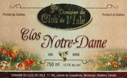 Domaine Clos de l'Isle Clos Notre-Dame