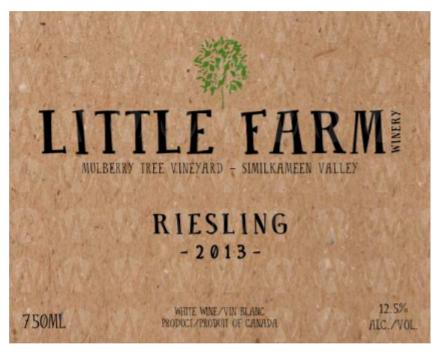 Little Farm Winery Riesling